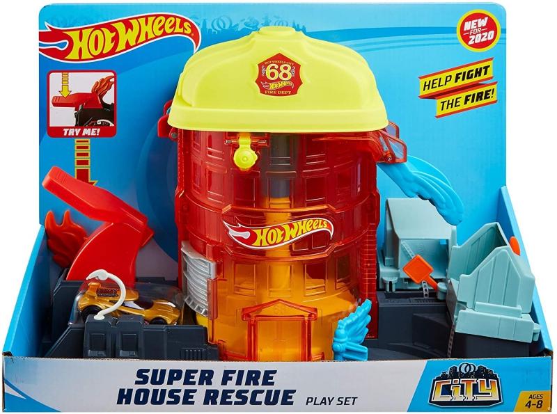 Mattel - Hot Wheels Super Fire House Rescuet / fr..