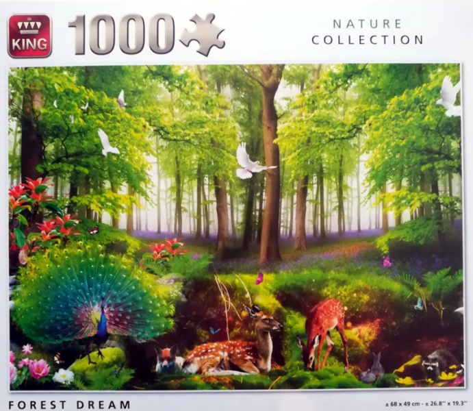 King - Puzzle 1000 Forest Dream